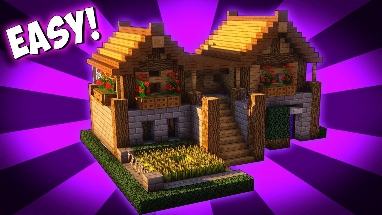 Minecraft  How To Build A Survival Starter House Tutorial   2017