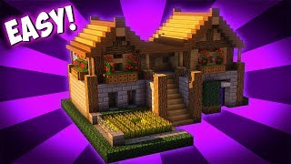 Minecraft: How To Build A Survival Starter House Tutorial 2017 YouTube