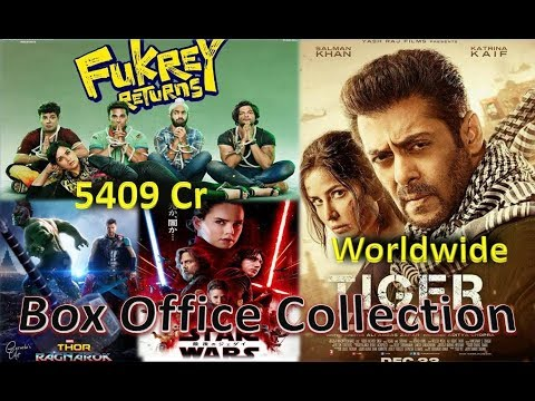 Box Office Collection Of Tiger Zinda Hai, Fukrey Returns , Star Wars The Last Jedi Etc