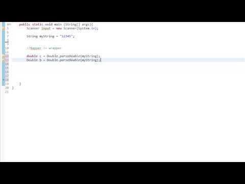 Beginners Java, Lesson 13, Wrapper Classes, simple methods, using strings, parsing numbers