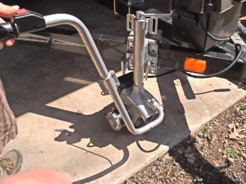 600 Lb 12v Motorized Trailer Jack Youtube