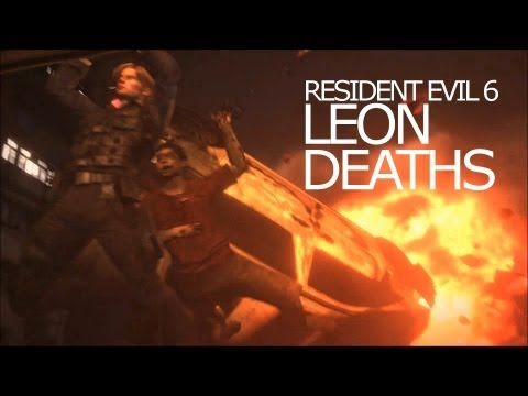 Leon Kennedy Death Scenes - Be Killed Awesomely Title Resident Evil 6 |