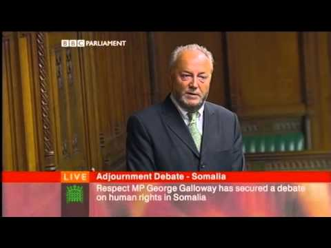 George Galloway on Somalia - Parliament