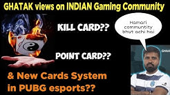 PMPL New Kills card & points card system in PUBG?? ghatak explains