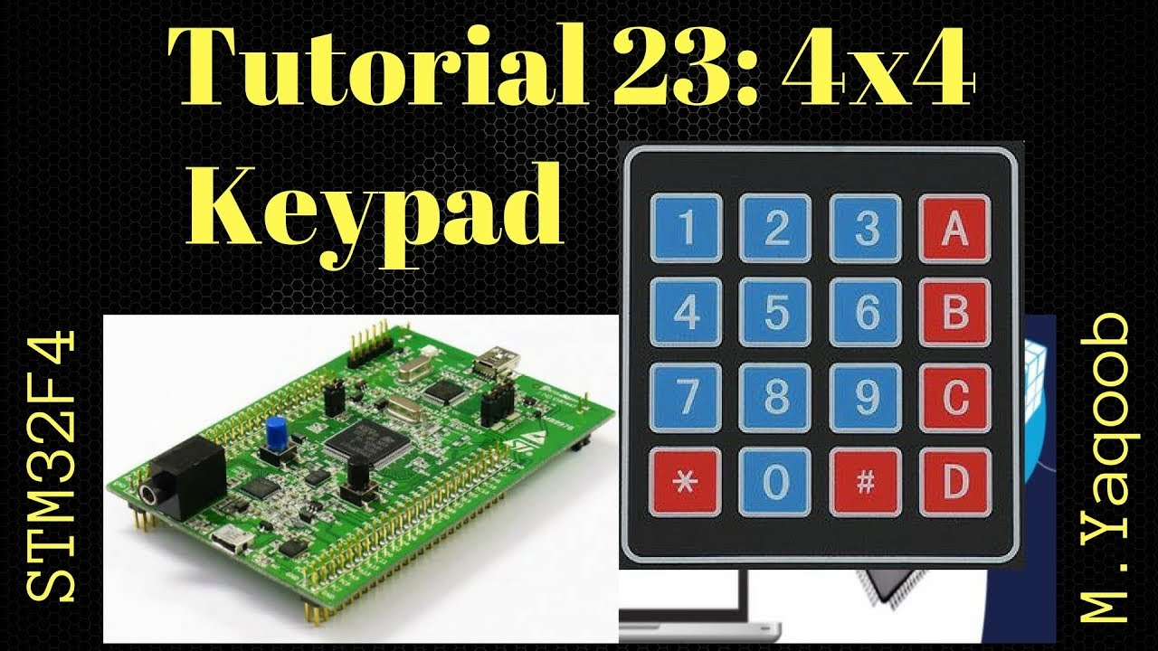 STM32F4 Discovery board - Keil 5 IDE with CubeMX: Tutorial 23 - 4x4 Keypad