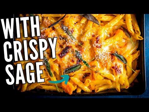 Fall Pasta Recipes 101   Creamy Baked Butternut Squash Pasta