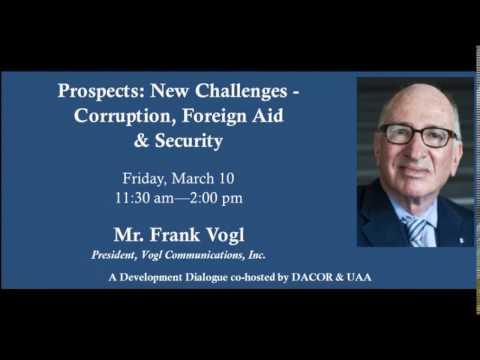 Frank Vogl UAA/DACOR Dialogue 03 10 17