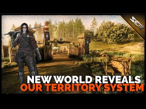 Amazon's ⚖️NEW WORLD MMO In-Depth Territory System Revealed (Settlements, Forts, Faction PVP)