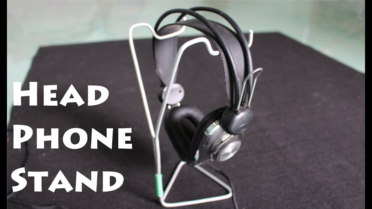 How to make a Headphone Stand using a Clothes Hanger - YouTube