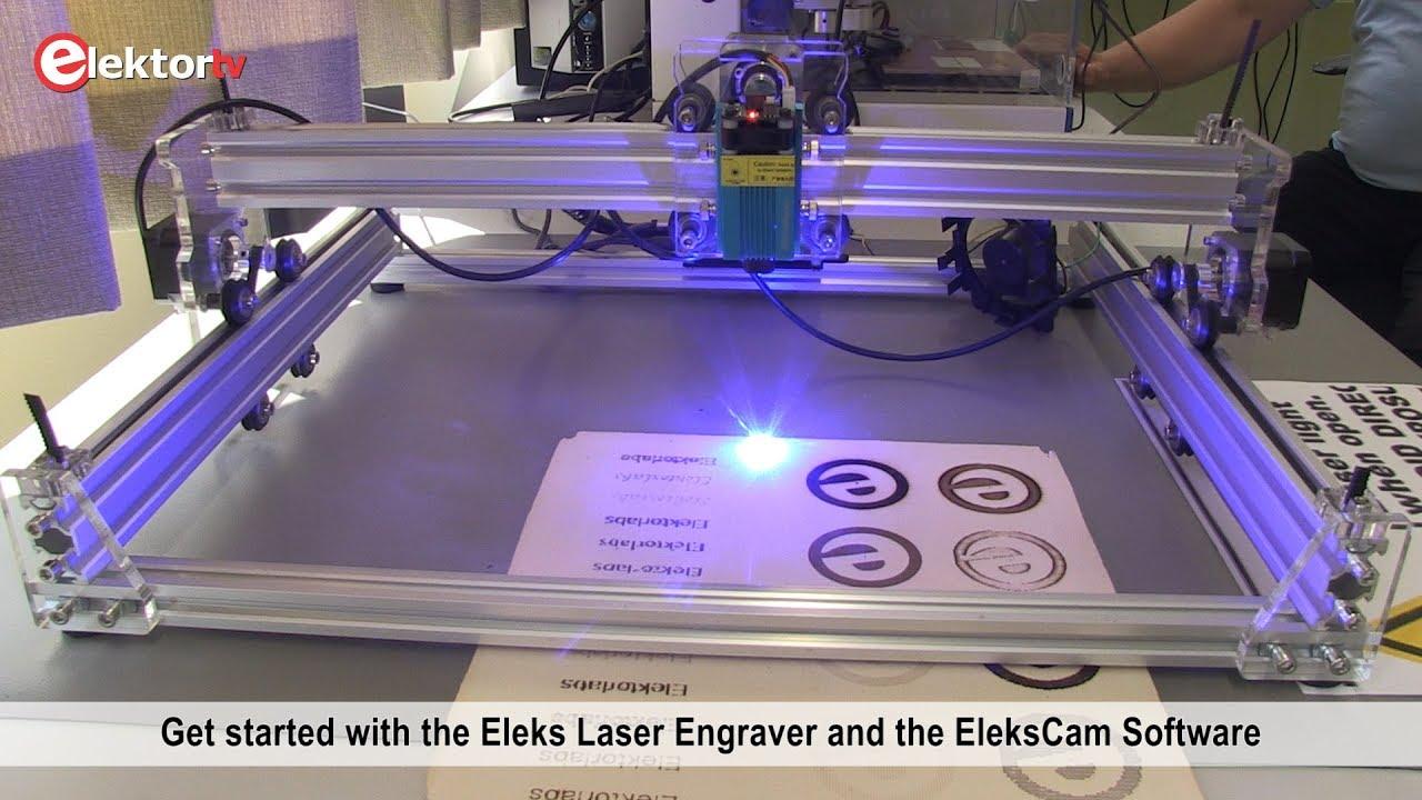 2 5 W Laser Engraver - Elekslaser A3 Pro - software & demo