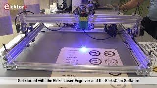 2 5 W Laser Engraver Elekslaser A3 Pro Software Demo Youtube