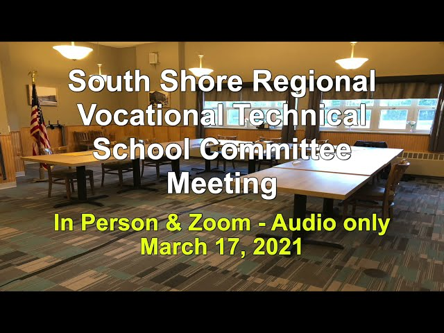 SSVT School Committee; March 17, 2021