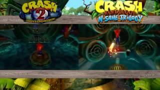 Crash Bandicoot N. Sane Trilogy PS4 - Sewer Or Later ORIGINAL VS NEW PS1 VS PS4 COMPARISON!