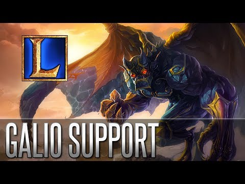 Galio Support - Full Gameplay Commentary