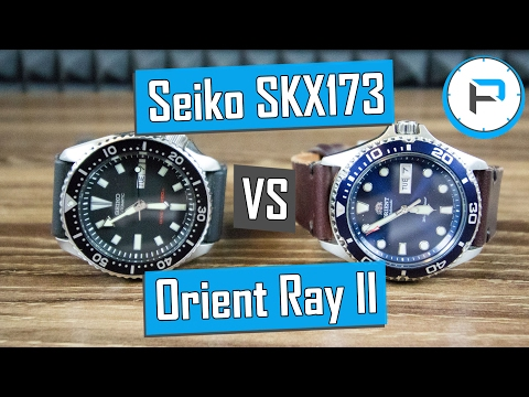 Seiko Skx173 Vs Orient Ray Ii Best Budget Diver For 200 Youtube
