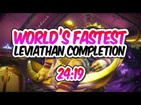 Destiny 2 - LEVIATHAN SPEEDRUN WORLD RECORD! [24:19] [Fastest Leviathan Raid]
