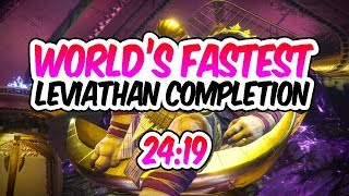 Destiny 2 - LEVIATHAN SPEEDRUN WORLD RECORD! [24:19] [Fastest Leviathan Raid]
