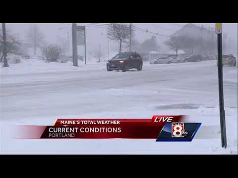 Conditions worsen in Portland as nor'easter hits