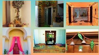 Diwali home decorations ideas | Home entrance decoration ideas on diwali |