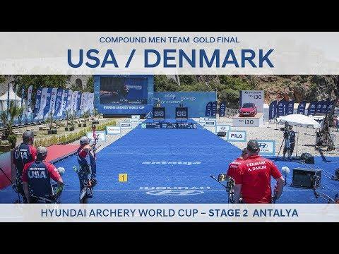 USA v Denmark – Compound Men Team Gold Final | Antalya 2017