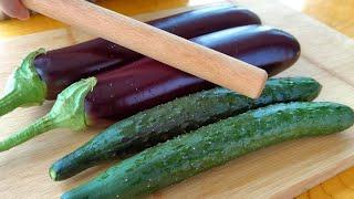 【小穎美食】茄子這樣做太好吃了,不炒不油炸,加2根黃瓜,出鍋比紅燒肉還香