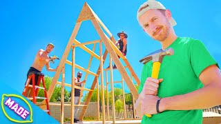 We Built A Tiny House In J-fred's Backyard!!