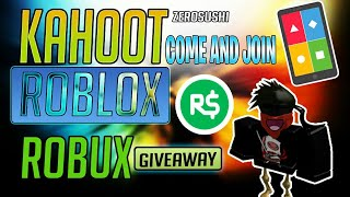 🔴ROBUXS GIVEAWAY/Kahoot And Roblox Live Stream #70🔴COME JOIN AND HAVE FUN