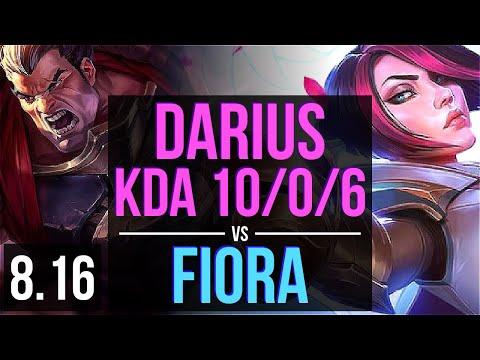 DARIUS vs FIORA (TOP) ~ KDA 10/0/6, Legendary ~ Korea Master ~ Patch 8.16