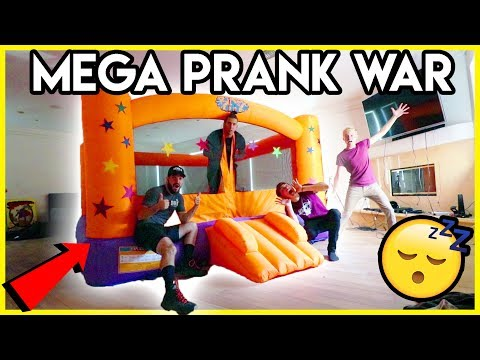 BOUNCY HOUSE WAKE UP PRANK | Mega Prank War