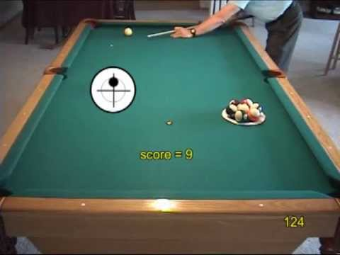 Pool and billiards drill for learning to play safeties, from VEPP III (NV C.12)