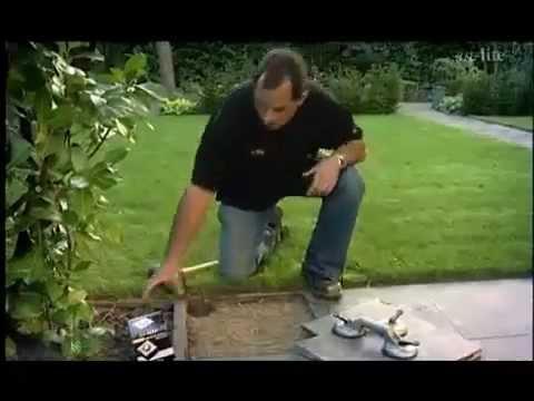 Tuinverlichting In Tegel : Tuinverlichting plaatsen in een betontegel natuursteen tegel of