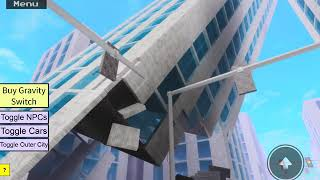 Destroying a noob tower in roblox! (Roblox)