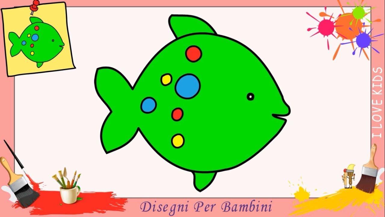 Disegni di pesci facili per bambini come disegnare un for Immagini di pesci da disegnare