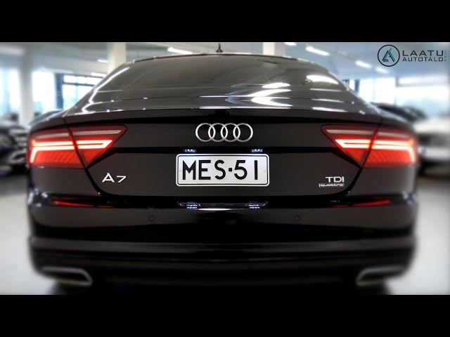 Messi's Former Black Pearl - Audi A7 Overview