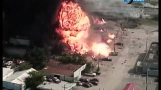 Взрыв склада газовых баллонов