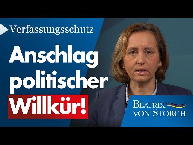 Beatrix von Storch (AfD) - Verfassungsschutz: Anschlag politischer Willkür auf die AfD, 20.01.2021