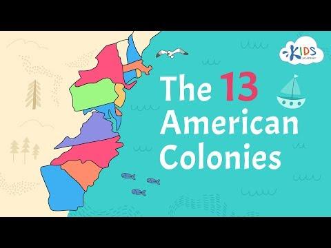 13 American Colonies | US History | Kids Academy