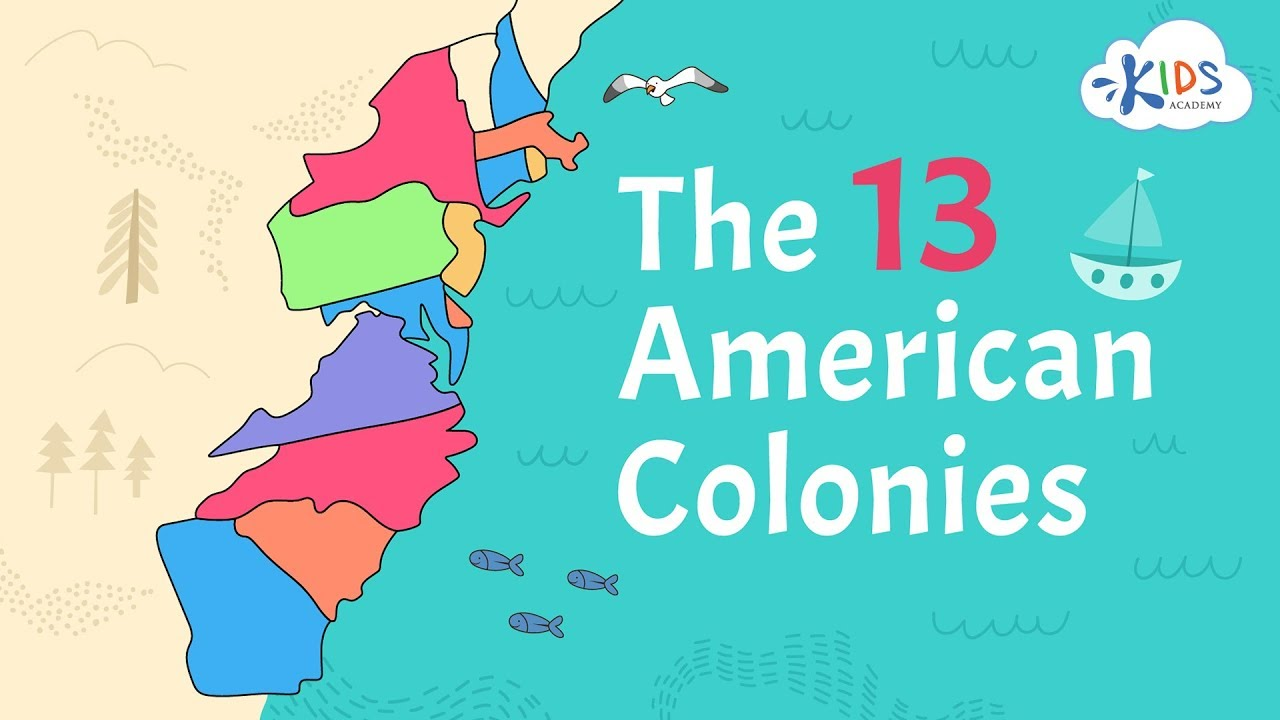 hight resolution of 13 American Colonies   US History   Kids Academy - YouTube