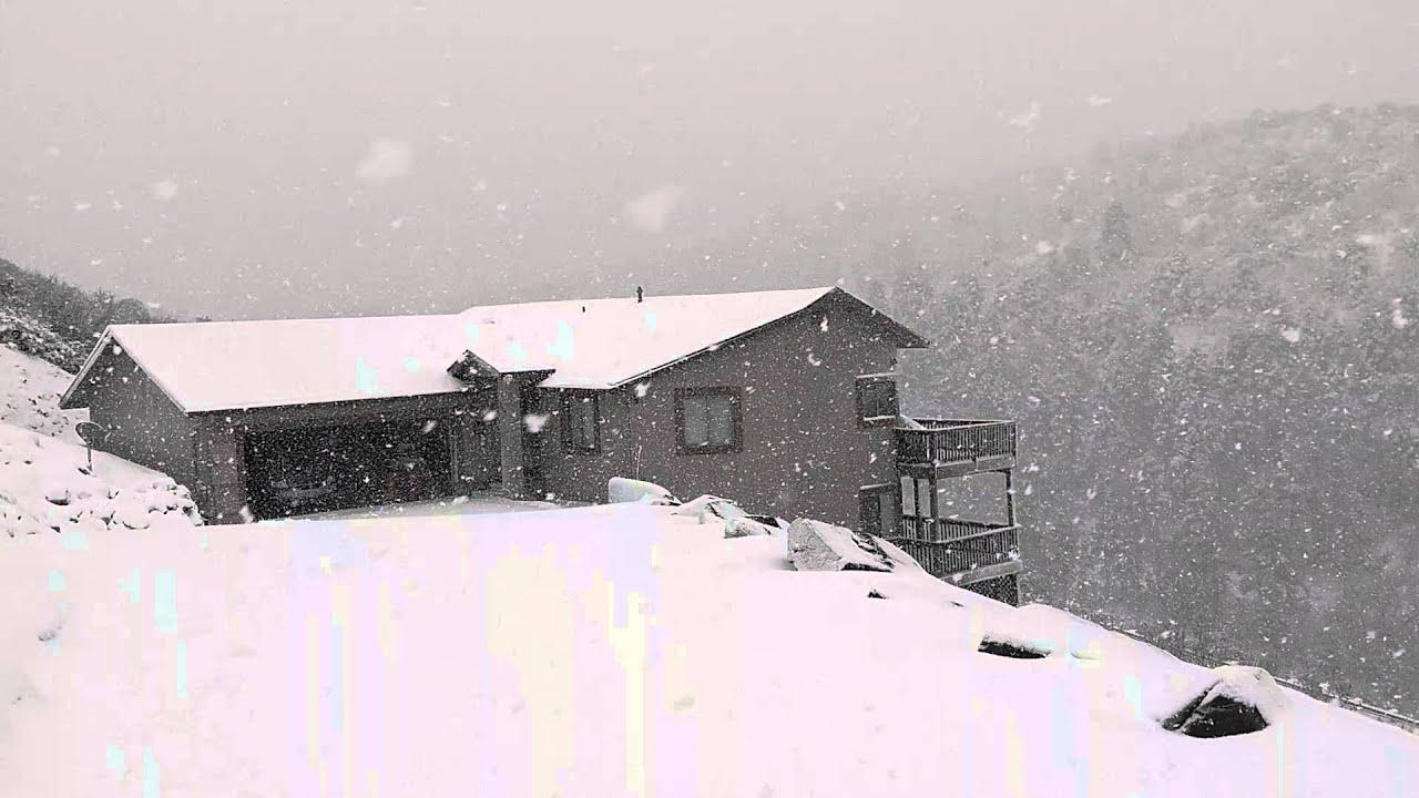 Donner Pass Snow >> January 2016 Snow in Prescott Az - YouTube