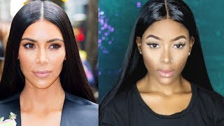 KIM KARDASHIAN WEST GRWM | Sleek Straight Hair x