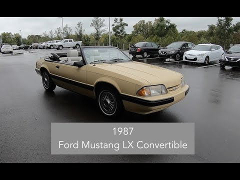 1987 Ford Mustang Lx Convertible Walk Around Video In Depth Review Test Drive