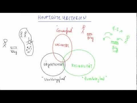 Reliabilität, Validität und Objektivitätиз YouTube · Длительность: 5 мин3 с