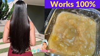 Banana Hair Mask for Hair Fall Hair Loss Treatment Smooth Silky Hair DIY Lovely Beauty Tips