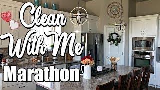 CLEAN WITH ME MARATHON :: INSANE CLEANING MOTIVATION :: SAHM CLEANING ROUTINE MARATHON