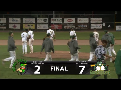 St. Clair Green Giants Vs Irish Hills July 28th 2017