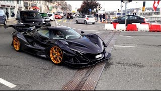Apollo IE hypercar hits the streets for the first time - 6,3l V12 STRAIGHT PIPES INSANE SOUND
