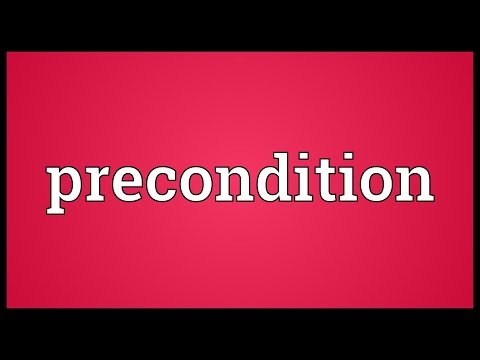 Precondition Meaning