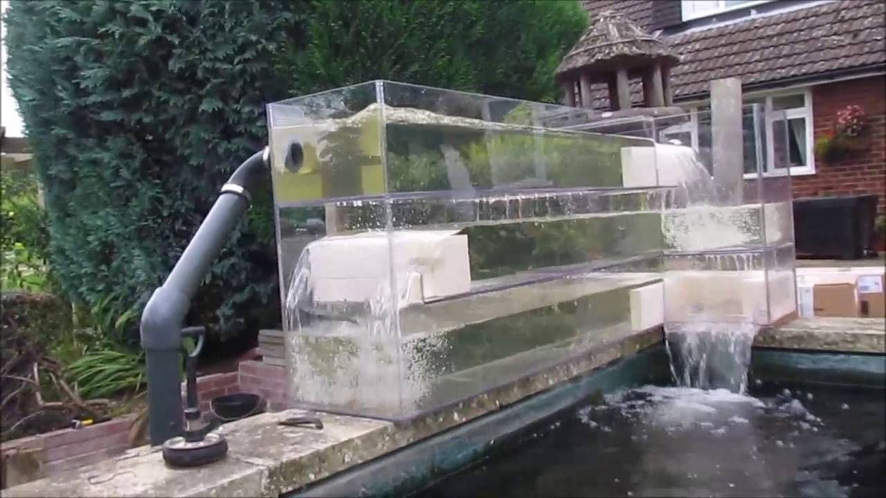 Installing A Bakki River Shower Using Sera Siporax On 4800gal Pond Pump For Youtube