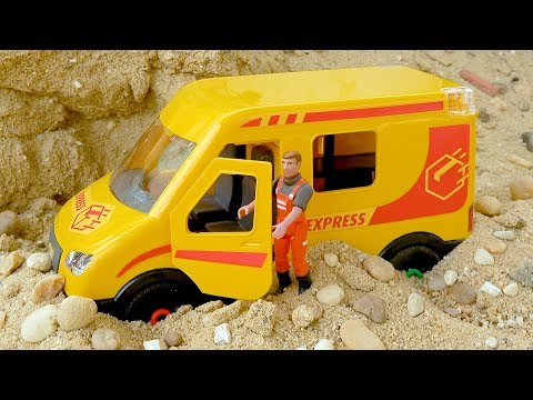 Assembling Delivery Truck Car Toy Play for Kids with Learn Colors