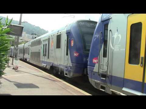 Nice Riquier HD-SNCF Ter Z 23500 class no.231553+231559(B) departs on service to Monaco